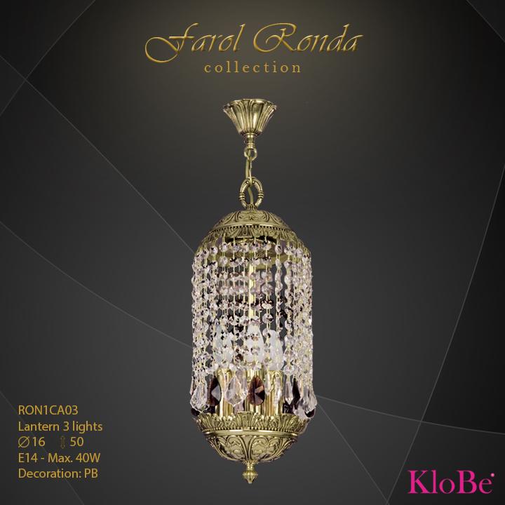 Farol Ronda 3 luces - Colección Faroles - KloBe Classic