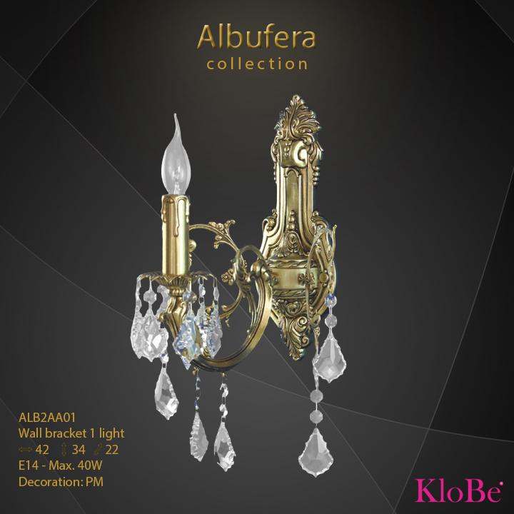 Aplique de pared de 1 luz - Colección Albufera - KloBe Classic