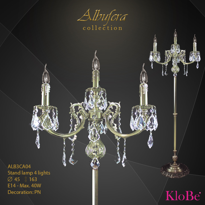 Luminaria de pie de 4 luces - Colección Albufera - KloBe Classic