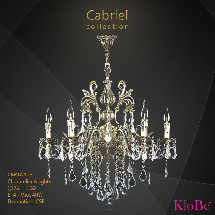 Luminaria de araña de 6 luces - Colección Cabriel - KloBe Classic