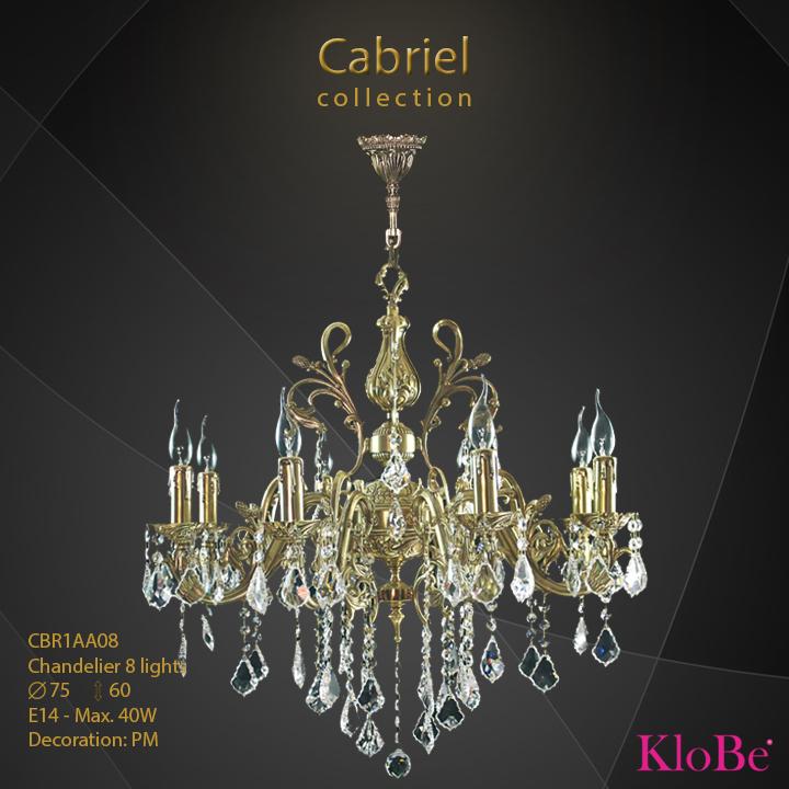 Luminaria de araña de 8 luces - Colección Cabriel - KloBe Classic