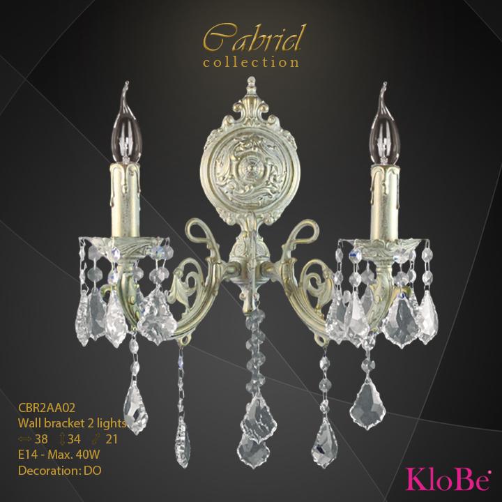 Aplique de pared de 2 luces - Colección Cabriel - KloBe Classic