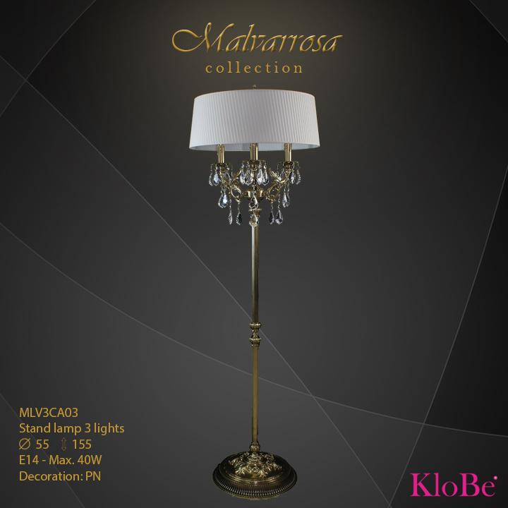 Luminaria de pie 3 luces - Colección Malvarrosa - KloBe Classic
