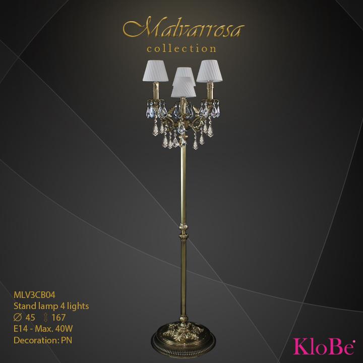 Luminaria de pie 4 luces - Colección Malvarrosa - KloBe Classic