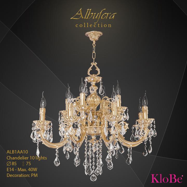ALB1AA10- Chandelier 10 L  ALBUFERA collection KloBe Classic
