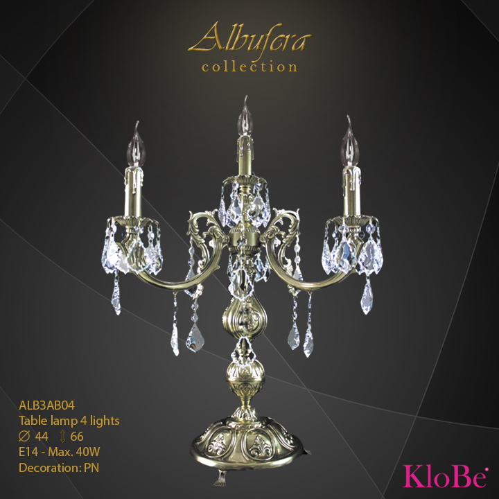 ALB3AB04- table Lamp  4 L  ALBUFERA collection KloBe Classic