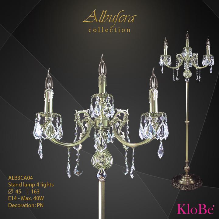 ALB3CA04- Stand Lamp  4 L  ALBUFERA collection KloBe Classic