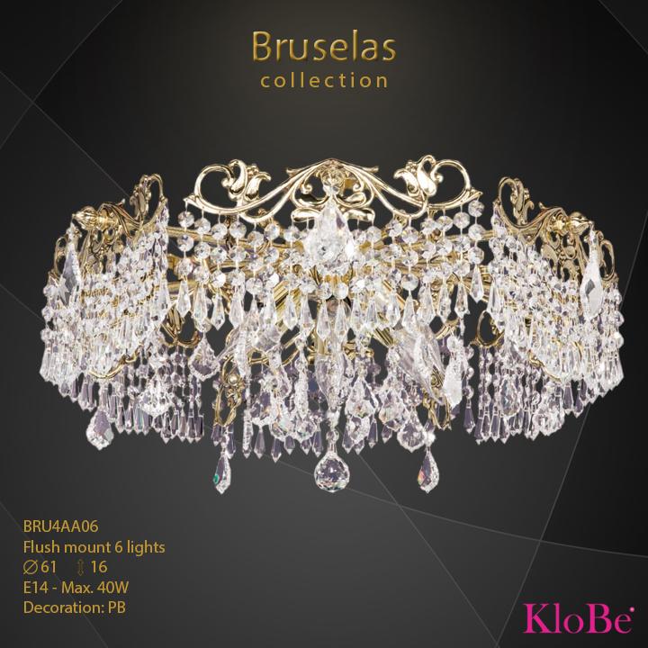 BRU4AA06 - Flush mount 6 L  Bruselas collection KloBe Classic