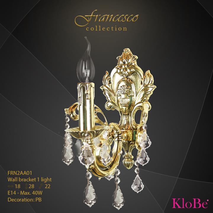 FRN2AA01 - Wall Bracket 1 L Francesco collection KloBe Classic