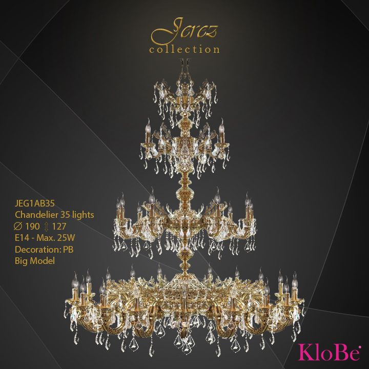 JEG1AB35 - CHANDELIER 35L jerez collection KloBe Classic