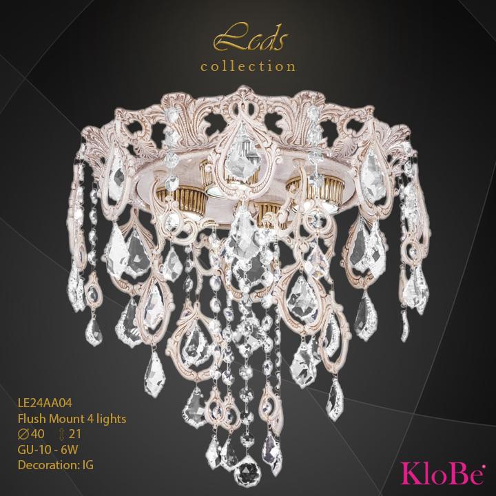 LE24AA04 -Flush Mount 4 L Leds collection KloBe Classic