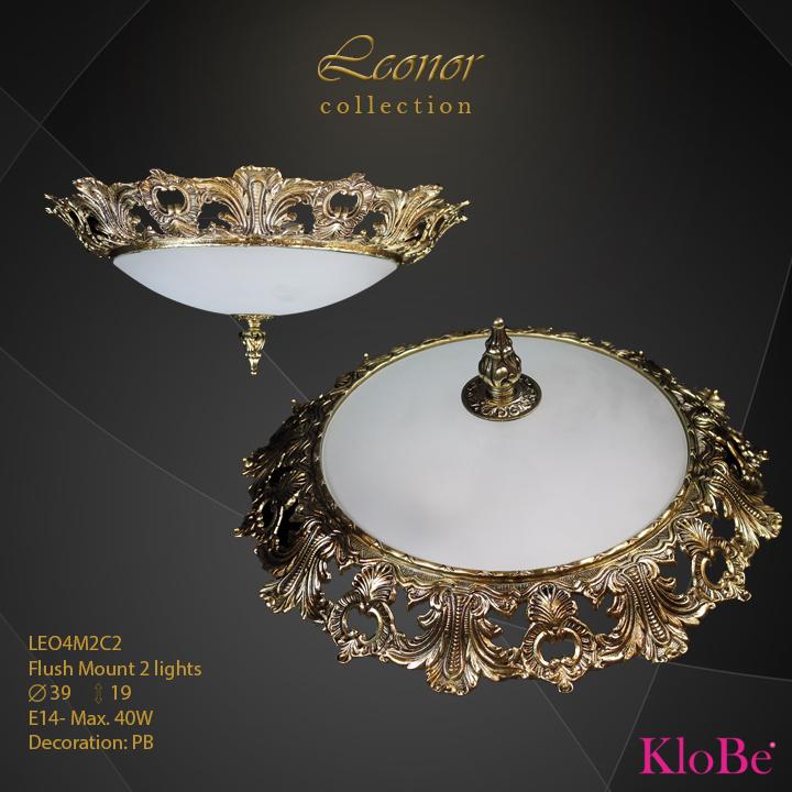 LEO4M2C2 - Flush Mount 2 L Leonor collection KloBe Classic