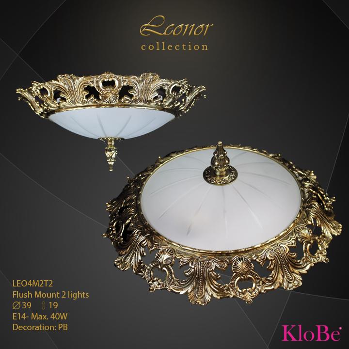 LEO4M2T2 - Flush Mount 2 L Leonor collection KloBe Classic