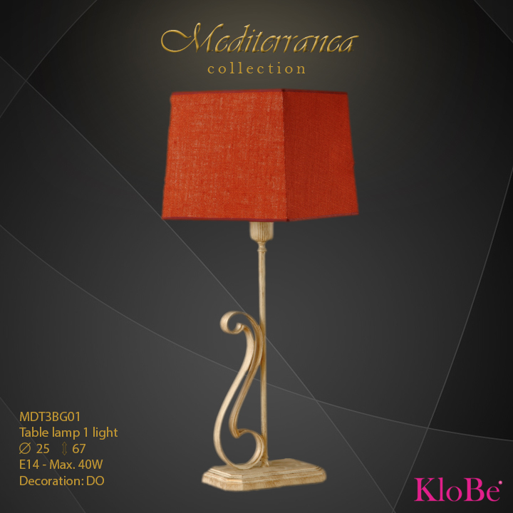 MDT3BG01 (DO) - TL  1L  Mediterranea collection KloBe Classic
