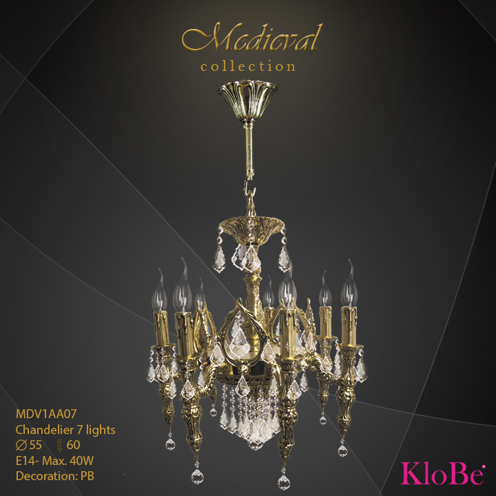 MDV1AA07  - CHANDELIER  7L  Medieval collection KloBe Classic