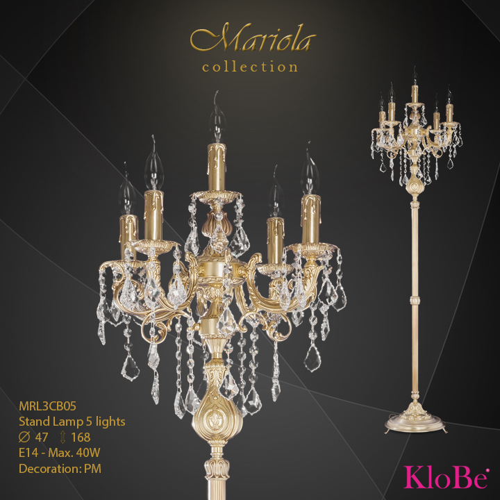 MRL3CB05 -Stand Lamp 5 L Mariola collection KloBe Classic
