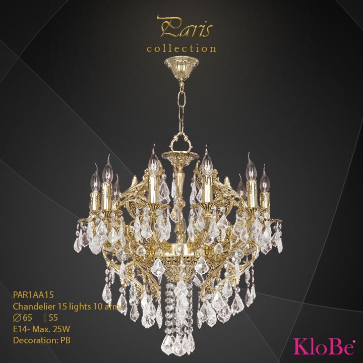 PAR1AA15 - Chandelier 15 L Paris collection KloBe Classic