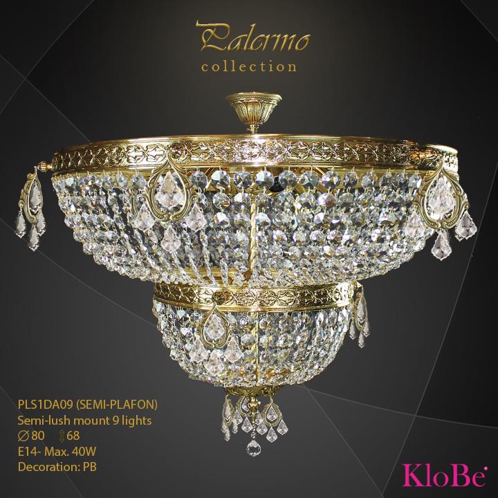 PLS1DA09 (SEMI-PLAFON) -SFM 9 L Palermo collection KloBe Classic