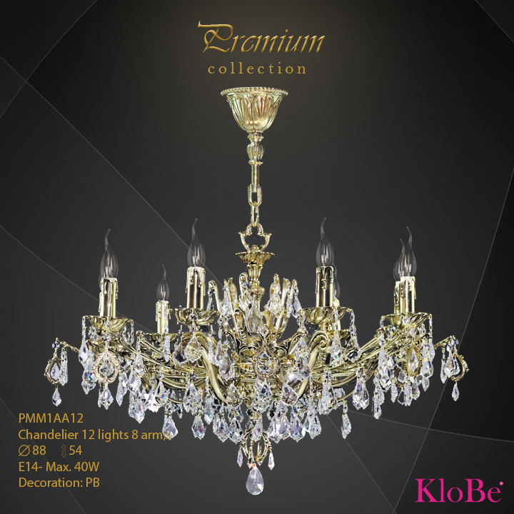 PMM1AA12 - Chandelier 12 L Premium collection KloBe Classic