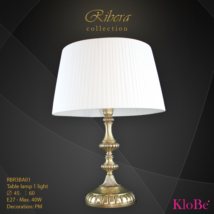 RBR3BA01  - TL  1L  Ribera collection KloBe Classic