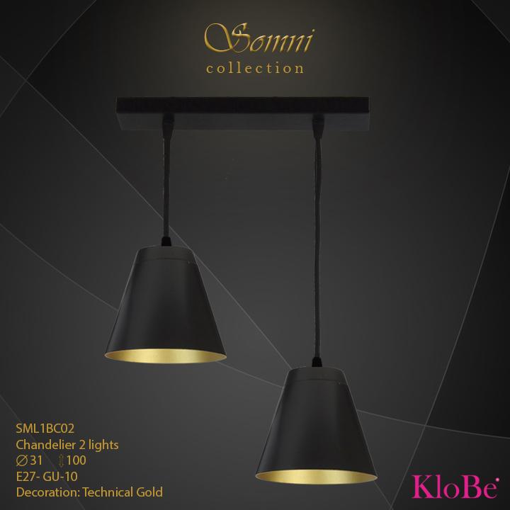 SML1BC02 - CHANDELIER  2L  Somni collection KloBe Classic