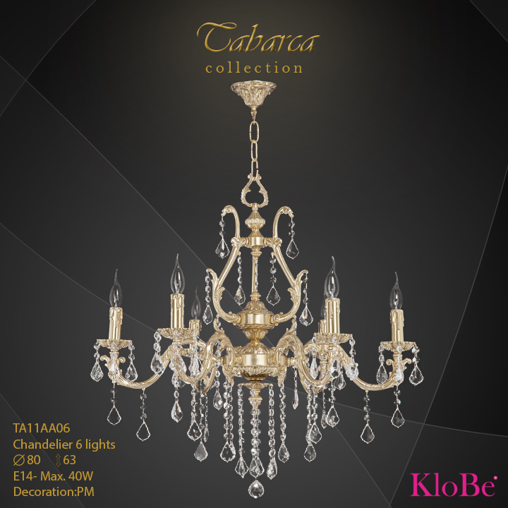 TA11AA06  - CHANDELIER  6L  Tabarca collection KloBe Classic