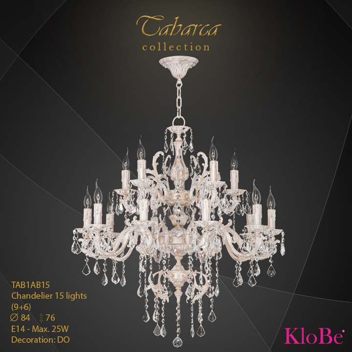 TAB1AB15  - CHANDELIER  15L  Tabarca collection KloBe Classic