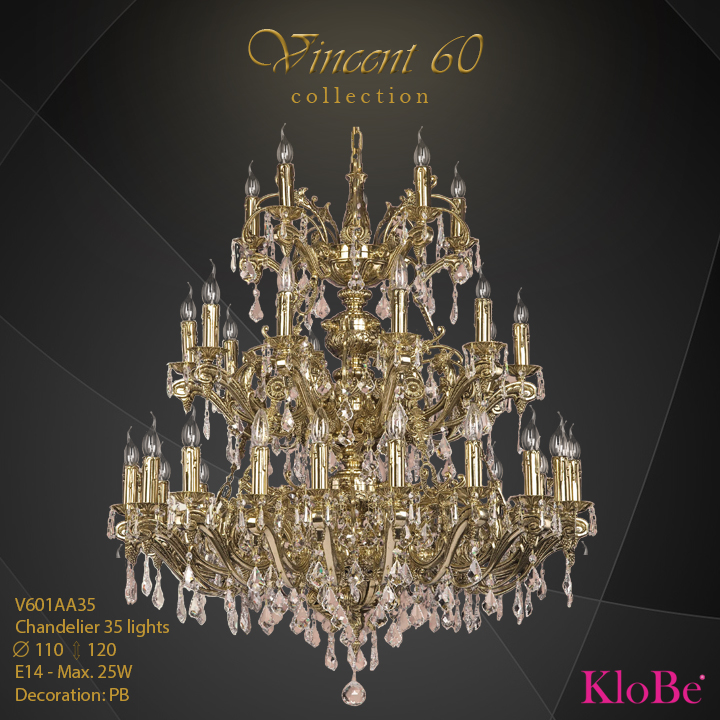 V601AA35 - CHANDELIER  35L  V60 collection KloBe Classic